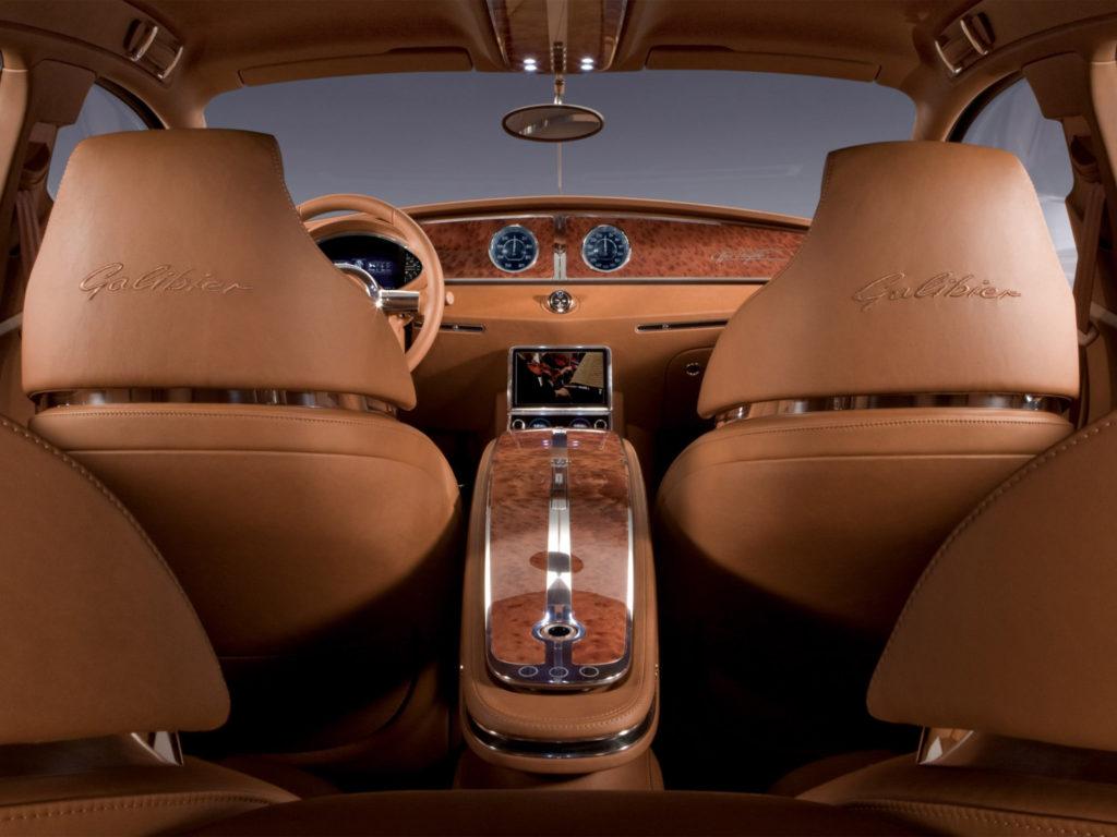 Авто Bugatti 16c Galibier 2009 года салон фото 5
