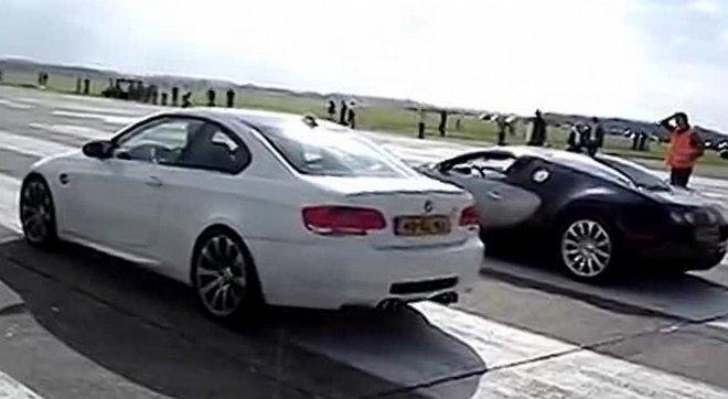 Bugatti Veyron против BMW