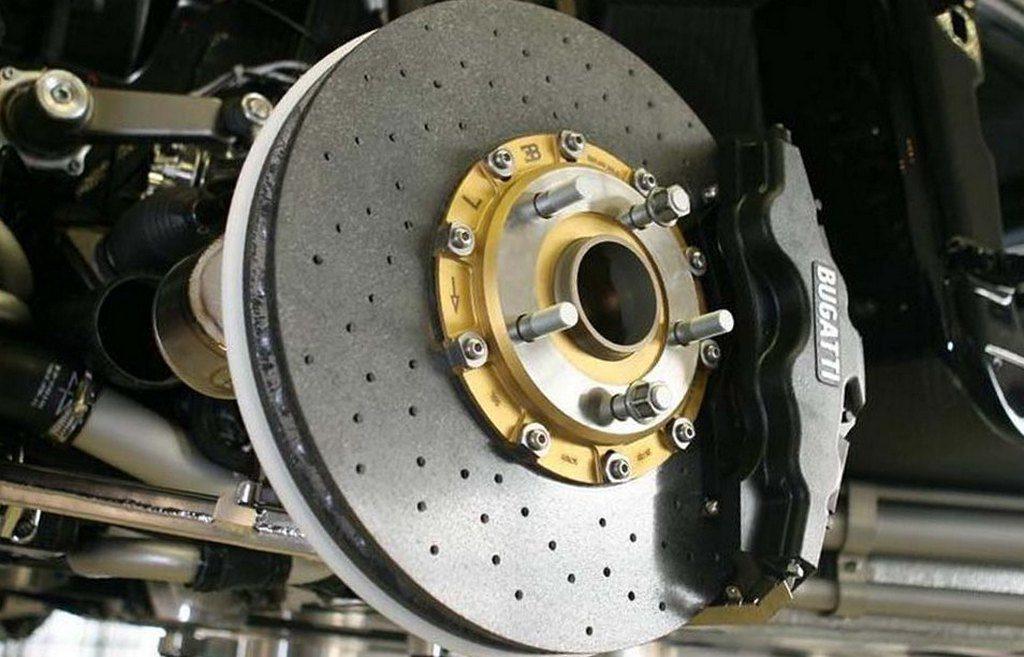 Углеродно-керамические тормозные диски для Bugatti Chiron (