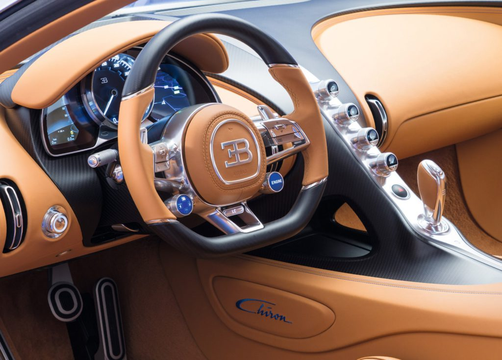 Bugatti Chiron (Бугатти Шерон) 2016 салон фото 2